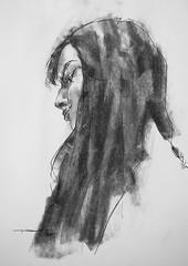 P1018284 (Gasheh) Tags: art painting drawing sketch portrait girl line pen charcoal gasheh 2018