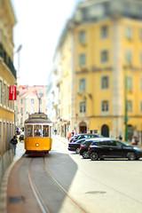 "Lensbaby Tram (""Stròlic Furlàn"" - Davide Gabino) Tags: lensbaby lensbabyedge50optic lisboa lisbon lisbona tram travel light day viaggio urban city"