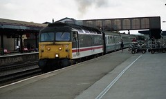 47808 at Oxford Station (TutorJohn72) Tags: class 47 diesel locomotive 1990 oxford station intercity livery