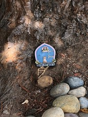 I Think This Is Where The Fairies Live (Jill Clardy) Tags: fairy fairie tree trunk redwood entrance tiny house rope ladder 365the2018edition 3652018 day194365 13jul18