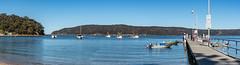 Patonga Panorama (Merrillie) Tags: landscape nature briskbay boats newsouthwales sea nsw patonga people wharf fishingboats outdoors seascape waterscape centralcoast australia water