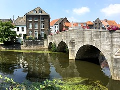 traditional houses and bridge (Sylvia Okkerse) Tags: greatphotographers houses historic roermond limburg netherlands holland river maas meuse