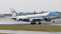 92-9000 VC-25A Air Force One USA - Air Force (kw2p) Tags: 929000 airforceone aircraft airlineoperator airport aviation boeing egpk usaairforce vc25a airline aeroplane airplane kw2p prestwickairport egpkpik scotland