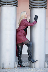 leathermandy0118585a (ralegre) Tags: mandysommer leather fetish skirt latex boot