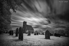 "Times Up (""A.S.A."") Tags: upleathamchurch saltburn teeside cleveland church gravestones churchyard sky longexposure wideangle slow shutter leefilters leebigstopper bigstopper nd110 neutral density sonya7rinfrared830nm sonyzeissvariotessarfe1635mmf4 blackwhite mono monochrome greyscale niksoftware silverefex asa2018"
