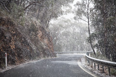 The Falling Flakes || BLUE MOUNTAINS || NSW (rhyspope) Tags: australia aussie nsw new south wales snow winter ice cold road street drive explore travel blue mountains bluemountains canon 5d mkii weather jenolan oberon lithgow bathurst orange amazing wow driving rhys pope rhyspope