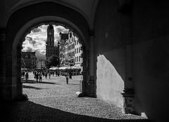 Tear of light (Dan_Vel) Tags: bw blackandwhite monochrome monotone street streetphoto streetphotography streetphotographer gdansk city poland polska pomerania panasonicgx9 gx9 panasonic contrast shadow