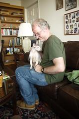 Jim & Max II (edenpictures) Tags: cat max cornishrex lapcat jim petting brookdale