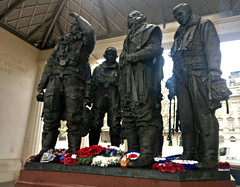 bomber command memorial (n.a.) Tags: bomber command memorial winston churchill quote 1940 green park soldiers statues london