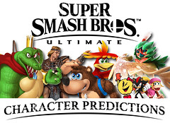 Super Smash Bros Ultimate Character Predictions (Luigi Fan) Tags: super smash bros ultimate nintendo switch king k rool donkey kong banjo kazooie simon belmont castlevania decidueye pokemon pac man ms shadow sonic hedgehog dixie