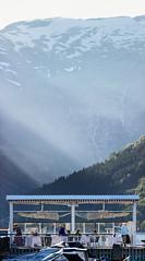 Cafe Fløyfisken, Balestrand, Norway, June 25, 2018. (Ulf Bodin) Tags: balestrand snow summer restaurang fjäll byggnad eatingout norge mountainside canoneos5dsr outdoor norway naturochlandskap canonef100400mmf4556lisiiusm mountain sognogfjordane no cafefløyfisken