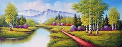 Panorama of the North, Art Painting / Oil Painting For Sale - Arteet™ (arteetgallery) Tags: arteet oil paintings canvas art artwork fine arts landscape sky tree summer clouds grass water river scenery meadow forest field outdoors lake cloud rural spring sunny outdoor natural environment season mountain trees horizon autumn countryside scene scenic tourism plant mountains country day reflection land fields landscapes surreal fantasy lakes rivers lime cyan paint