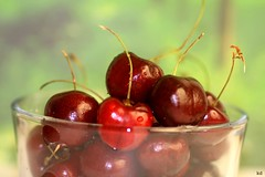 snack time (Kens images) Tags: snack cherries fruit macro meals composition focus colour red bowl desert canon ontario farm rural