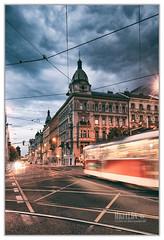 Tramvaj (Miguel Cádiz) Tags: tram tranvía travel longexposure largaexposición praha praga praag prago prague prog prag prág europe europa czechrepublic czech repúblicacheca arquitectura nubes