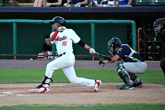 JUAN PINEDA (MIKECNY) Tags: tricityvalleycats astros hit hitter batter swing minotleague nypennleague catcher vermontlakemonsters as