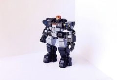 LAW ENFORCEMENT ARMOR (Gregory St) Tags: lego mech armor law enforcement police minifig articulation articulated foitsop