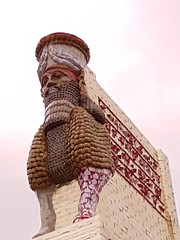Guardian of the Plinth (failing_angel) Tags: 010418 london cityofwestminster phone trafalgarsquare fourthplinth artwork lamassu theinvisibleenemyshouldnotexist michaelrakowitz nergalgate nineveh sennacherib assyria