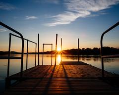 Eventide (John Westrock) Tags: sunset nature sun pier wisconsinriver wisconsin midwest olympusomdem1markii olympusmzuikodigitaled1240mmf28pro river yextwisconsin