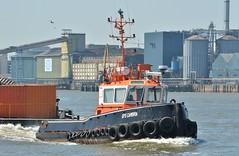 GPS Cambria (3) @ Woolwich Reach 27-06-18 (AJBC_1) Tags: riverthames london tug gpsmarine ©ajc dlrblog england unitedkingdom uk ship boat vessel northwoolwich eastlondon newham londonboroughofnewham ajbc1 gpscambria nikond3200 stantug1606 damen damenshipyardsgroup pontoon devon woolwichreach
