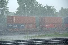 There's a Rain Coming Down (craigsanders429) Tags: stacktrains nsstacktrain rain bereaohio nschicagoline nsinbereaohio