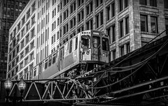 Heading back into Chicago..... Explore (Kevin Povenz Thanks for all the views and comments) Tags: 2017 july kevinpovenz illinios chicago windycity street streetphotography canon7dmarkii sigma train blackandwhite bw thel downtown building buildings architecture steel light windows conductor
