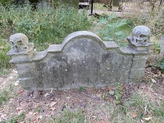 Gravestone in churchyard of St Mary's Old Church, Stoke Newington