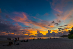 soundown (Santanu Sen) Tags: vacation island havelockisland sea andamansea beach seashore radhanagarbeach andaman india