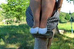 S piškotama na výletě (029) (Merman cvičky) Tags: balletslippers ballettschläppchen ballet slipper ballerinas slippers schläppchen piškoty cvičky ballettschuhe ballettschuh punčocháče pantyhose strumpfhosen strumpfhose tights collants medias collant socks nylons socken nylon spandex elastan lycra