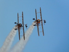 Southport Air Show 2018: Aerosuperbatic Wingwalkers 1/2 (David Hennessey) Tags: southport air show 2018 boeing stearman biplane aerosuperbatic wingwalkers