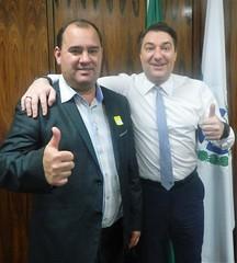 Reunião com o prefeito da cidade de Nova Esperança do Sudoeste (PR), Jair Stange.