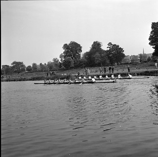Boat race, Dodder River, Rathfarnham, Co. Dublin