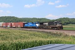 NS 9710 (CC 8039) Tags: ns gmtx up trains ac44cw sd60 demo demonstrator valmeyer illinois
