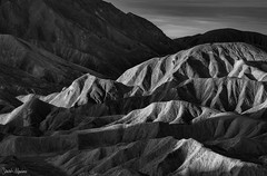 Morning Light (Sarah Marino) Tags: deathvalleynationalpark deathvalley desert mojavedesert california blackwhite naturephotography nature badlands