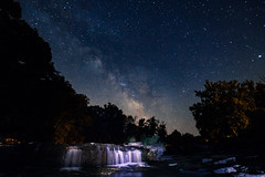 Last Night. (cara zimmerman) Tags: milkyway stars galaxy milkywaygalaxy universe waterfall cataractfalls cataract night indiana ruralindiana