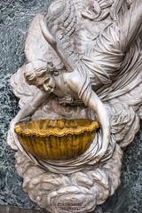 Acqua santa (Stauromel) Tags: sicilia italia acquasanta aguabendita angeles nubes marmol iglesiadesangiuseppedeiteatini marabitti escultura barroco stauromel alquimiadigital fuji fujixt2