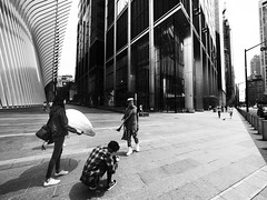 Stolen Moment (C@mera M@n) Tags: blackandwhite city citynewyork manhattan model ny nyc newyork newyorkcity newyorkcityphotography newyorkphotography oculus people photographer place places urban outdoors