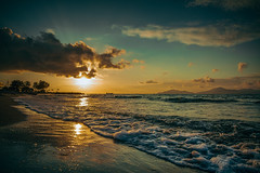 (dastine) Tags: sunset sky clouds blue beach travel sunrise sand seascape sea water griechenland greece sun kos
