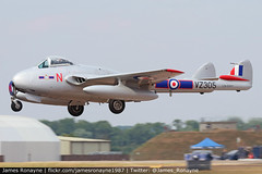 LN-DHY | de Havilland Vampire FB.52 | Norwegian Airforce Historical Squadron (james.ronayne) Tags: lndhy | de havilland vampire fb52 norwegian airforce historical squadron riat raf fairford egva ffd canon 80d 100400mm raw aeroplane airplane plane aircraft jet