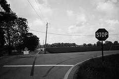 Stop (Jim Davies) Tags: film analogue veebotique compactcamera 35mm photography analog camera canon sureshot 90uii 400asa ilford xp2 monochrome chromogenic c41 summer august columbus ohio filmfilmforever believeinfilm