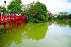 Ho Hoan Kiem Lake, Red Bridge, Hanoi, Vietnam (adamba100) Tags: asia asian china chinese korea korean mongolia mongolian vietnam vietnamese thai beijing town city view landscape cityscape street life lifestyle style people human person man men woman women male female girl boy child children kid interesting portrait innocent cute charm pretty beauty beautiful innocence play face headshot pure purity tourism sightseeing tourist travel trip light color colour outdoor traditional cambodia cambodian phnom penh sony a6300 18105 siem reap pattaya bangkok field gate architecture tree building
