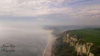 Branscombe cliffs in the mist