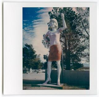 uniroyal girl (polaroid). pearsonville, ca. 2017.