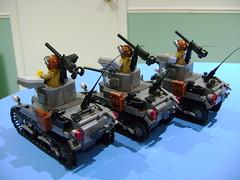 DSC09848 (TekBrick) Tags: custom ww2 lego stuart m3a1 tank moc dark grey us usa mini figure brick parts bricks tracks machine gun