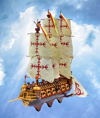 The Bellonatus (Mark of Falworth) Tags: lego airship moc creation art mark of falworth sail ship warship cannon isles aura vermillion flagship