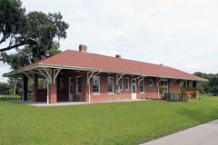 Zephyrhills Depot on a Summer Afternoon (California Will) Tags: train station railroad railway atlanticcoastline florida zephyrhills historic fl pasco