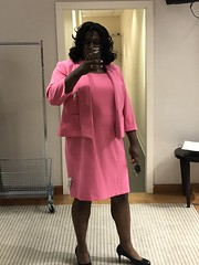 I've been dreaming of wearing this pink outfit forever! I didn't want to take it off. Sigh... (shayla981) Tags: crossdressing crossdress