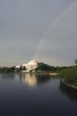 RAINBOW COLORS (A B Pan) Tags: rainbowcolors rainbow washingtondc nationalmall jeffersonmemorial tidalbasin westpotomac monuments rainyday todo visit travel