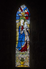 Caistor St Peter & St Paul, stained glass west window. (Pam & Bryan) Tags: stainedglass caistor lincolnshire