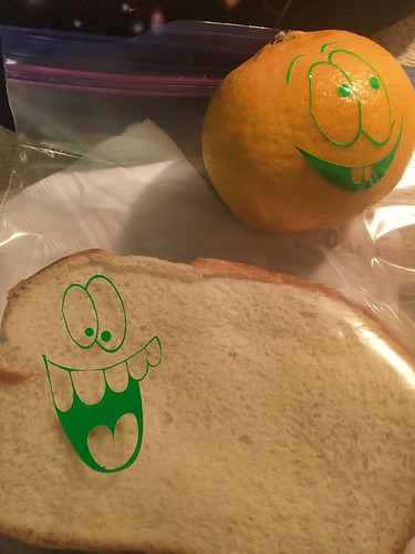 apply the vinyl for funny lunch faces