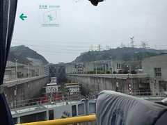 During the Three Gorges Dam excursion, when your coach goes across the bridge, you will see the 5-stage ship locks. It takes about 3-5 hours for a ship to traverse the ship locks. It is nearly the height of a 40-story building, and the vertical distance t (yangtze-river-cruise) Tags: yangtzerivercruise threegorgescruise